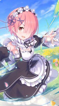 Ram wallpaper Re:Zero live wallpaper - Ram from Re:Zero live wallpaper. Ram (ラム) is one of the twin maids working for Roswaal L Mather - Otaku Anime, Anime Girlxgirl, Anime Maid, Chica Anime Manga, Anime Guys, Manga Kawaii, Kawaii Anime Girl, Anime Art Girl, Cool Anime Girl