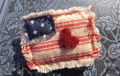 American Flag Brooch USA Pin 4th July Old by TreasuresCherished