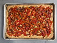 Marinated and roasted red peppers top a crunchy, olive oil-rich crust in this Mallorcan red pepper tart, also known coca mallorquina. Lamb Chop Recipes, Roast Recipes, Cannellini Bean Salad, Anchovy Recipes, Saveur Recipes, Star Bread, Savory Tart, Roasted Red Peppers, Recipe Search