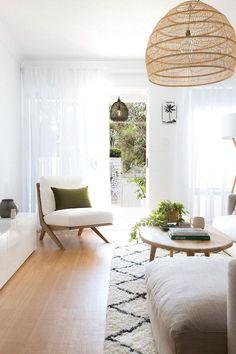 Belongil Salt Byron Bay - Apartments for Rent in Byron Bay, New South Wales, Australia Simple Living Room, Boho Living Room, Living Room Lighting, Living Room Decor, Living Rooms, House Rooms, Kitchen Living, Room Kitchen, Small Living
