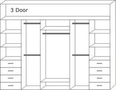 internal wardrobe layouts - Google Search