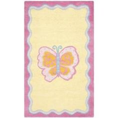 Shop for Safavieh Handmade Children's Butterfly Yellow N. Z. Wool Rug (3' x 5'). Get free shipping at Overstock.com - Your Online Home Decor Outlet Store! Get 5% in rewards with Club O!