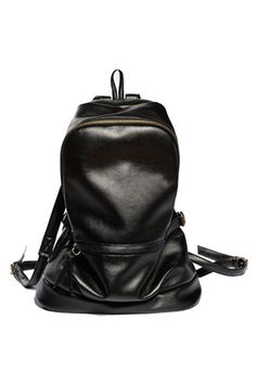 Romwe Lovely Style Black Backpack, $61.99, available at Romwe.