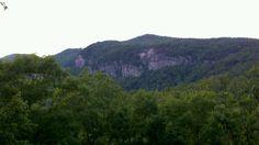 Rumbling Bald Mountain in Lake Lure North Carolina.