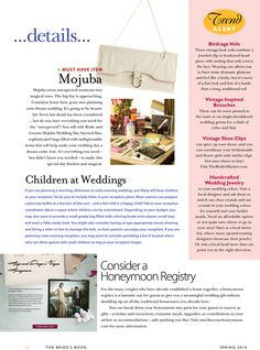 Emergency Kits by Mojuba | The Bride's Book | Wedding Day Checklist, Wedding Day Tips, Wedding Day Timeline, Emergency Kits, Bride Book, Must Have Items, Headpiece, Vintage Inspired, Headdress