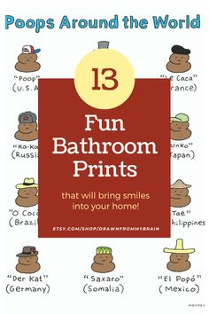 Add a little humor to your bathroom with this collection of funny art. There's a full range of bathroom humor to choose from, including cute prints, weird art, and funny animal prints. Your bathroom interior will never be the same! They're also great for birthday gifts, dorm decor, and funny cubicle decor at the office. #etsy #bathroomart #bathroomdecor #bathroomideas #toiletsign