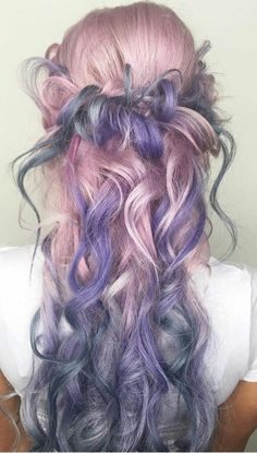 Pastel pink lavender purple dyed hair color @imallaboutdahair