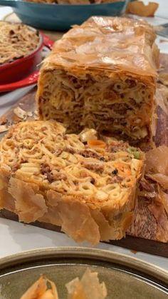 Cookbook Recipes, Pasta Recipes, Cooking Recipes, Macaroni Pie, Greek Recipes, Pasta Dishes, Apple Pie, Food To Make, Spaghetti