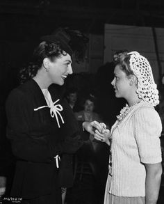Joan Crawford & Judy Garland