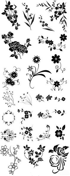 Line drawing swirl flower pattern vector graphic / Imagenes Free, Flower Template, Motif Floral, Kirigami, Pyrography, Amazing Flowers, Flower Patterns, Flower Pattern Drawing, Line Drawing