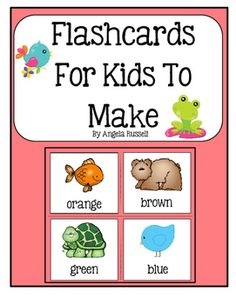 This+is+a+wonderful+tool+to+help+young+children+review+their+colors.+These+cards+are+very+special+because+the+children+will+color+and+cut+out+the+cards+by+themselves.+Then,+you+can+have+them+laminated+when+they+are+finished+and+add+them+to+a+ring.+This+unit+provides+you+will+24+cards+for+the+colors:+red,+blue,+yellow,+brown,+black,+green,+pink,+purple,+white,+gray,and+orange.