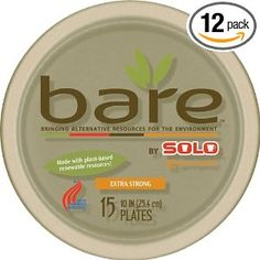 eco friendly brown plates. 15 packs of 12 for under $40!