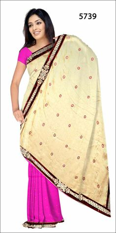 Shop SIXMETER #Casual Wear White Silk Saree at 99trendz.com. This is a perfect addition to every women's #Sarees Collection.