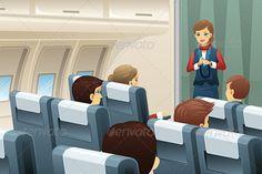 Flight Attendant Demonstrating
