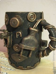 Decor items Application History Assemblage one mug Clay Paint Material worthless photo 1 Informations About Decor items Application History Assemblage one mug Clay Paint Material worthless. Bottle Painting, Bottle Art, Bottle Crafts, Steampunk Crafts, Clay Paint, Diy Inspiration, Steampunk Accessories, Junk Art, Altered Bottles
