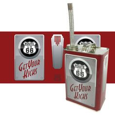 Route 66 Art Deco Style Gas can with Spout by MotorCityHardware
