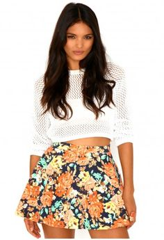 Kailey Floral Swing Skirt http://www.missguided.co.uk/catalog/product/view/id/79229/s/kailey-floral-swing-skirt/category/545/ #Missguided #Fashion #Trends #Style #SS13 #Summer #Skirt #Print #Pattern #Floral #New #Bright