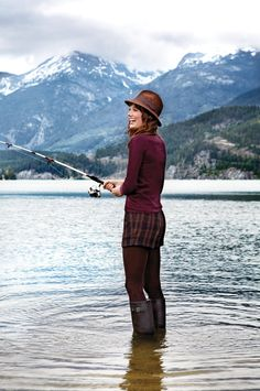 The Centre for the Study of Living Standards released a study called Canadians Are Happy and Getting Happier: An Overview of Life Satisfaction in Canada Fly Fishing Girls, Bear Fishing, Fishing Life, Ottawa Tourism, Fall Fashion Staples, Outdoor Girls, O Canada, Opaque Tights, Perfect Wardrobe