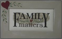FAMILY MATTERS:  1 OF 3 IN 1