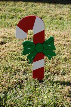 candy cane yard art | Candy Cane Christmas Yard Art by IvysWoodCreations on Etsy