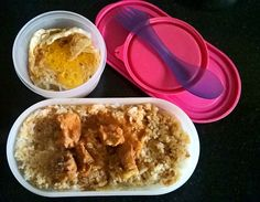 Indian Lunch Box, Boiled Food, Steamed Rice, Lunch Box Recipes, Chicken Curry, Oatmeal, Pudding, Breakfast, Desserts