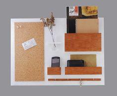 Organizer für die Wand aus Holz / wall organizer, home office, home decor made by Silva Design via DaWanda.com