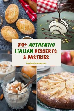 Take your pick from this list of authentic and easy Italian Desserts Pastries Traditional treats from every region of Italy you will surely find a favorite for every occ. Italian Cookie Recipes, Italian Cookies, Pastry Recipes, Dessert Recipes, Quick Dessert, Dessert Healthy, Fancy Desserts, Lemon Desserts, Dessert Cannoli