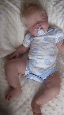 Custom made newborn with blonde hair  Noah boy/girl