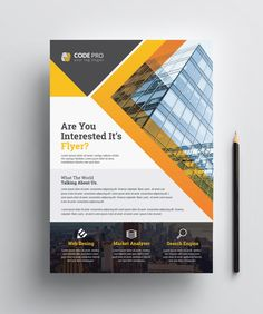 This corporate flyer is designed in Photoshop in PSD format. Corporate Flyer, Corporate Design, Flyer Design, Graphic Design Brochure, Graphic Design Typography, Photo Card Maker, Mail Jeevas, Foil Business Cards, Creative Flyers