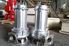 Two 304 stainless steel submersible sewage pumps. Small but efficient, suitable for personal use. Pump Manufacturers, Agriculture Companies, Sewage Pump, Centrifugal Pump, Submersible Pump, Shanghai, Farming, Pumps, Stainless Steel
