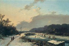 Barend Cornelis Koekkoek - Barend Cornelis Koekkoek - Winter aan de Neder-Rijn 1851