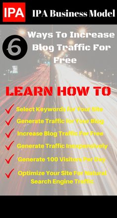 Learn how to increase blog traffic in 6 different ways that is not boring. Blog traffic is important for your success