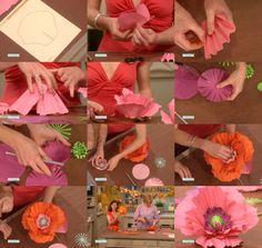 DIY fleur geante                                                                                                                                                      Plus