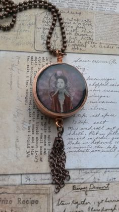 copper pipe circus and glitter resin necklace  £15.00