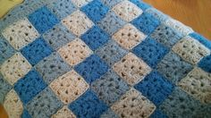 1/12th dollshouse miniature hand crocheted afghan cover, double bed size | eBay