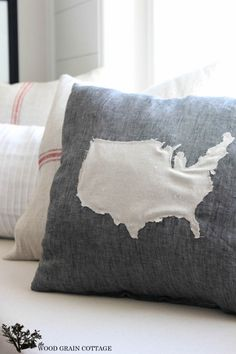 DIY United States Pillow by The Wood Grain Cottage