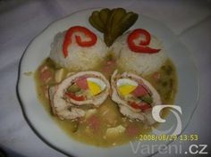 Kuřecí ptáčky deluxe Czech Recipes, Ethnic Recipes, No Salt Recipes, Stew, Sushi, Food And Drink, Menu, Eggs, Chicken
