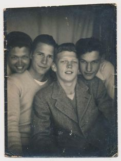 A photo booth of '50s friends