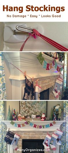 How To Hang Stockings The Easy Way