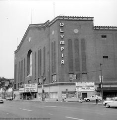 """Olympia Stadium stood at 5920 Grand River Ave. from 1927 until Shortly after opening, Olympia became the home of The Detroit Red Wings. In the hockey fans packed the stadium to watch Gordie Howe and the """"Production Line"""" win four Stanley Cups. Detroit Rock City, Detroit Sports, Detroit Area, Detroit Ruins, State Of Michigan, Detroit Michigan, Michigan Facts, Olympia Stadium, Detroit History"""