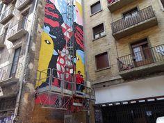 Adoquines y Losetas.: Descalzos.Mural.Salón del Cómic