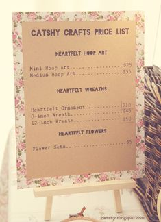 Catshy Crafts: Designing A Craft Booth Display with Thrifted Finds