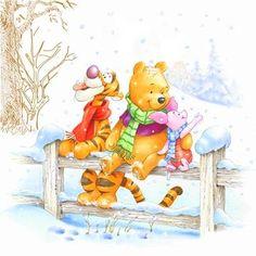 Pooh and friends Winne The Pooh, Cute Winnie The Pooh, Winnie The Pooh Quotes, Winnie The Pooh Friends, Winnie The Pooh Christmas, Mickey Christmas, Eeyore, Tigger, Wallpaper Tigre