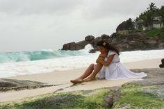 Talking to the sea. Seychelles