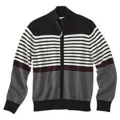 Merona® Men's Long Sleeve Full-Zip Sweater - Gray
