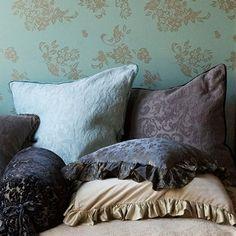 Bella Notte Linens | Adele Sham Silk Velvet Trim | Luxury Designer Bedding