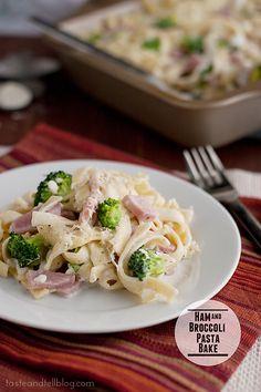 Ham and Broccoli Pasta Bake   www.tasteandtellblog.com