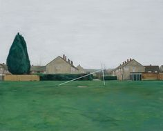 George Shaw, This Sporting Life, 2009 Contemporary Landscape, Urban Landscape, Contemporary Paintings, Landscape Art, Landscape Paintings, Landscapes, Royal College Of Art, World View, Modern Landscaping