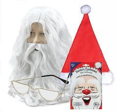 Santa #claus #father christmas wig, #beard, hat, half moon glasses & white eyebro,  View more on the LINK: 	http://www.zeppy.io/product/gb/2/331396661448/