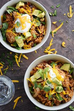 Instant Pot Chicken Taco Bowls countryliving